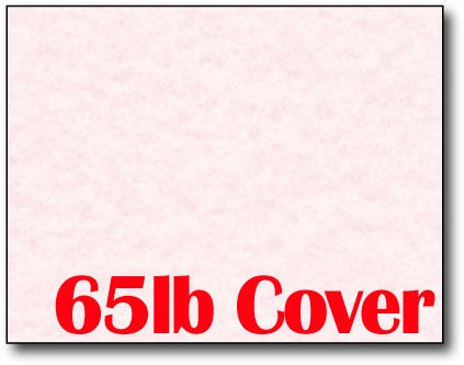 "Single Flat Cards, 4 1/4"" x 5 1/2"" 65lb Pink Parchment - 1000 Flat Cards"