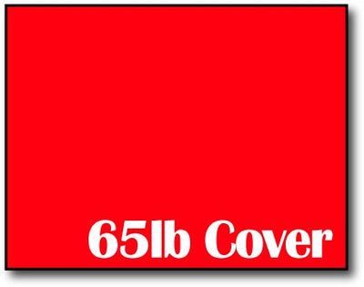 "Single Flat Cards, 4 1/4"" x 5 1/2"" 65lb Rocket Red - 1000 Flat Cards"