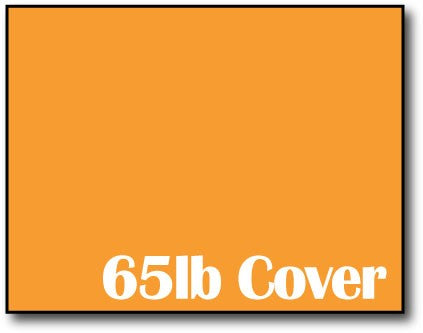 "Single Flat Cards, 4 1/4"" x 5 1/2"" 65lb Cosmic Orange - 1000 Flat Cards"