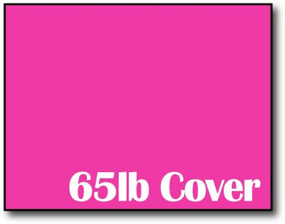 "Single Flat Cards, 4 1/4"" x 5 1/2"" 65lb Fireball Fuchsia - 1000 Flat Cards"