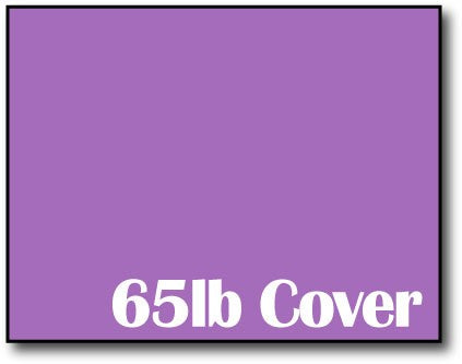 "Single Flat Cards, 4 1/4"" x 5 1/2"" 65lb Planetary Purple - 1000 Flat Cards"