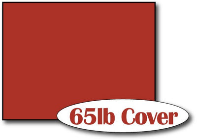 "Single Flat Cards, 4 1/4"" x 5 1/2"" 65lb Holiday Red - 1000 Flat Cards"