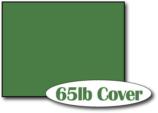 "Single Flat Cards, 4 1/4"" x 5 1/2"" 65lb Holiday Green - 1000 Flat Cards"