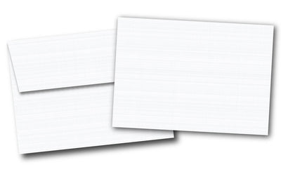 "5"" x 7"" Cardstock with Envelopes - (Linen / 80lb Cover)"