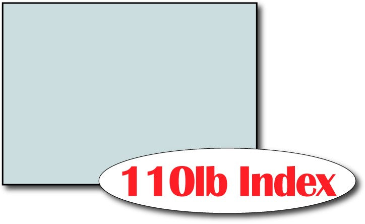 "110lb Index Blue 5"" x 7"" Cards - 500 Flat Cards"