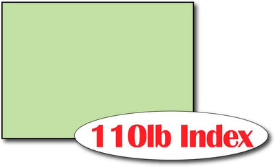 "110lb Index Green 5"" x 7"" Cards - 500 Flat Cards"