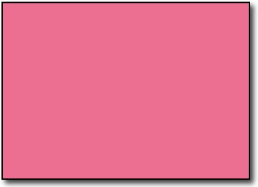 "110lb Index Pink 5"" x 7"" Cards - 500 Flat Cards"