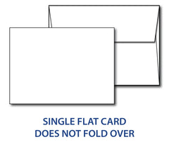 "80lb White 5"" x 7"" Cards & envelopes combo pack"