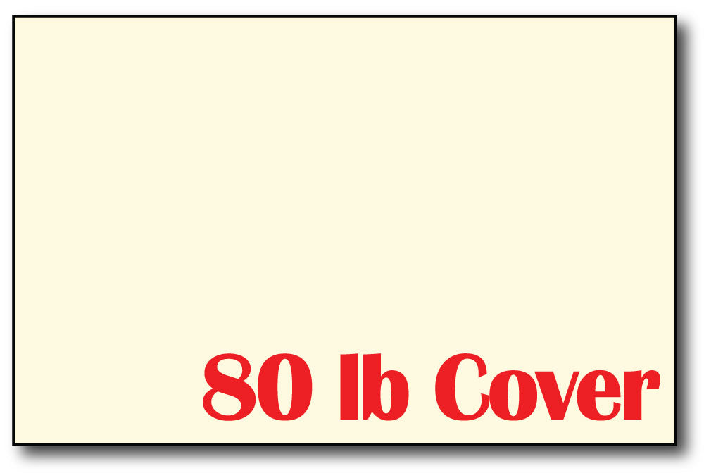 "5"" x 7"" Cardstock - 80lb Cover - (Color: Cream)"