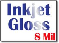 "8 Mil Inkjet Gloss 5"" x 7"" Flat Cards - 500 Cards"
