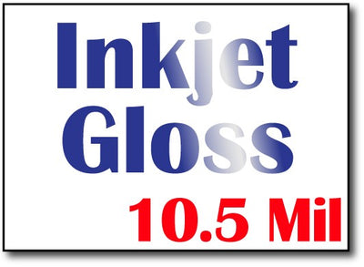 "10.5 Mil Inkjet Gloss 5"" x 7"" Cards - 500 Invitations"