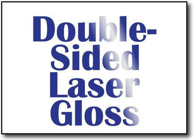 "Double Sided Laser Gloss 5"" x 7"" Cards - 500 Invitations"