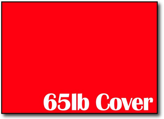"65lb Rocket Red 5"" x 7"" Cards - 500 Flat Cards"