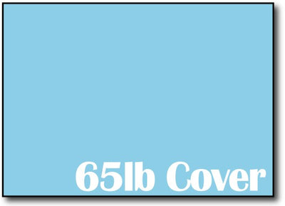 "65lb Bright Blue 5"" x 7"" Cards - 500 Flat Cards"