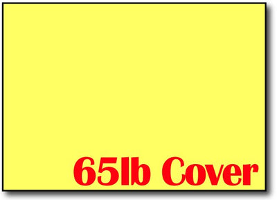 "Bright Yellow 5"" x 7"" Cards - 500 Flat Cards"