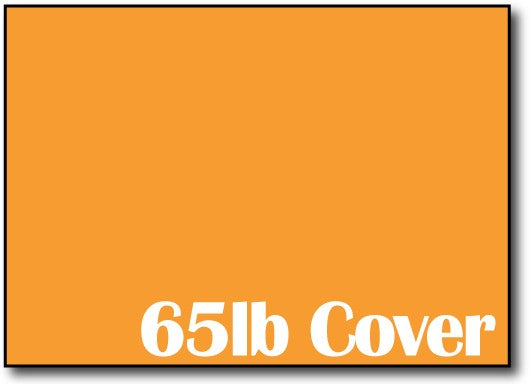 "65lb Cosmic Orange 5"" x 7"" Cards - 500 Flat Cards"
