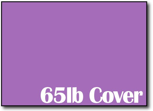 "65lb Planetary Purple 5"" x 7"" Cards - 500 Flat Cards"