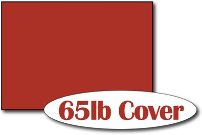 "65lb Holiday Red 5"" x 7"" Cards - 500 Flat Cards"