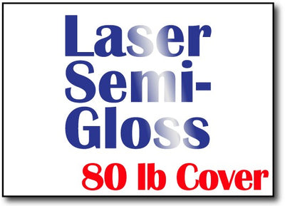 "Laser Semi-Gloss 5"" x 7"" Cards - 500 Flat Cards"