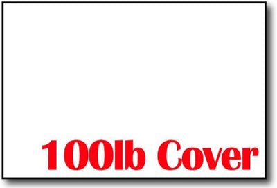 "100lb Cover White 4"" x 6"" Cards - 400 Flat Cards"