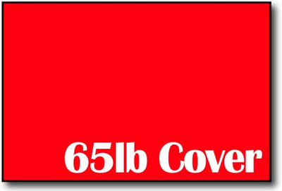 "65lb Rocket Red 4"" x 6"" Cards - 500 Flat Cards"