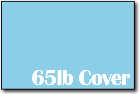 "65lb Bright Blue 4"" x 6"" Cards - 500 Flat Cards"