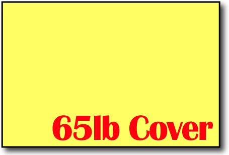 "65lb Bright Yellow 4"" x 6"" Cards - 500 Flat Cards"