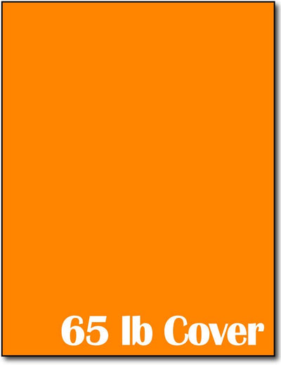"65 lb Bright Orange cardstock, measure (8 1/2"" x 11"") , compatible  with copier, inkjet and laser, matte both sides"