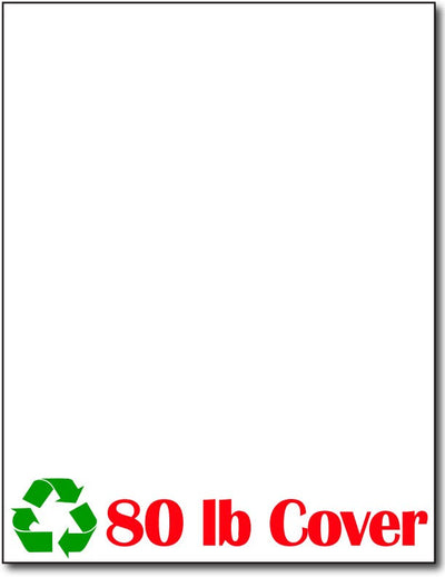 "100 lb White CardStock , size A6, measure (8 1/2"" x 11"") ,100% Recycled, compatible with copier, inkjet and laser , Matte Both sides"