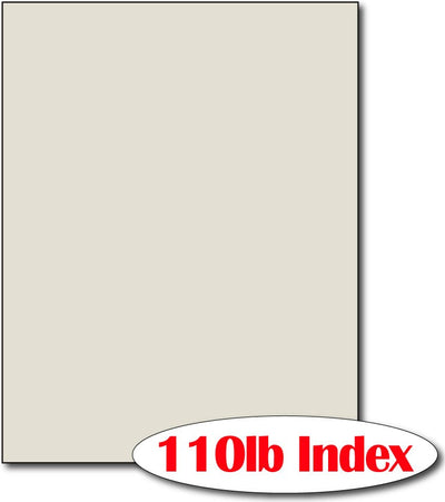 "110 lb Index Grey CardStock , size A6, measure (8 1/2"" x 11"") , compatible with copier, inkjet and laser , Matte Both sides"