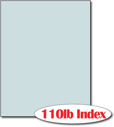"110 lb Index Blue CardStock , size A6, measure (8 1/2"" x 11"") , compatible with copier, inkjet and laser , Matte Both sides"