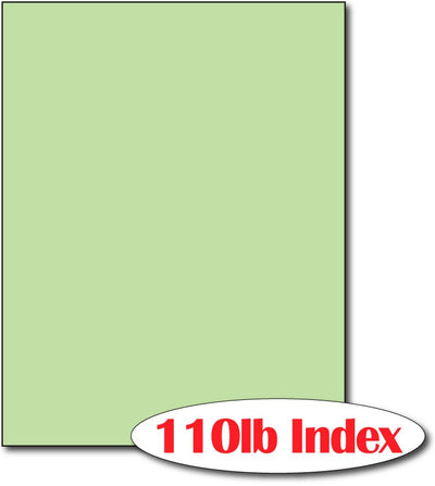 "110 lb Index Green CardStock , size A6, measure (8 1/2"" x 11"") , compatible with copier, inkjet and laser , Matte Both sides"