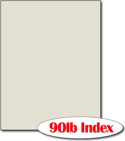 "60 lb Index Grey CardStock , size A6, measure (8 1/2"" x 11"") , compatible with copier, inkjet and laser , Matte Both sides"