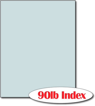"60 lb Index Blue CardStock , size A6, measure (8 1/2"" x 11"") , compatible with copier, inkjet and laser , Matte Both sides"