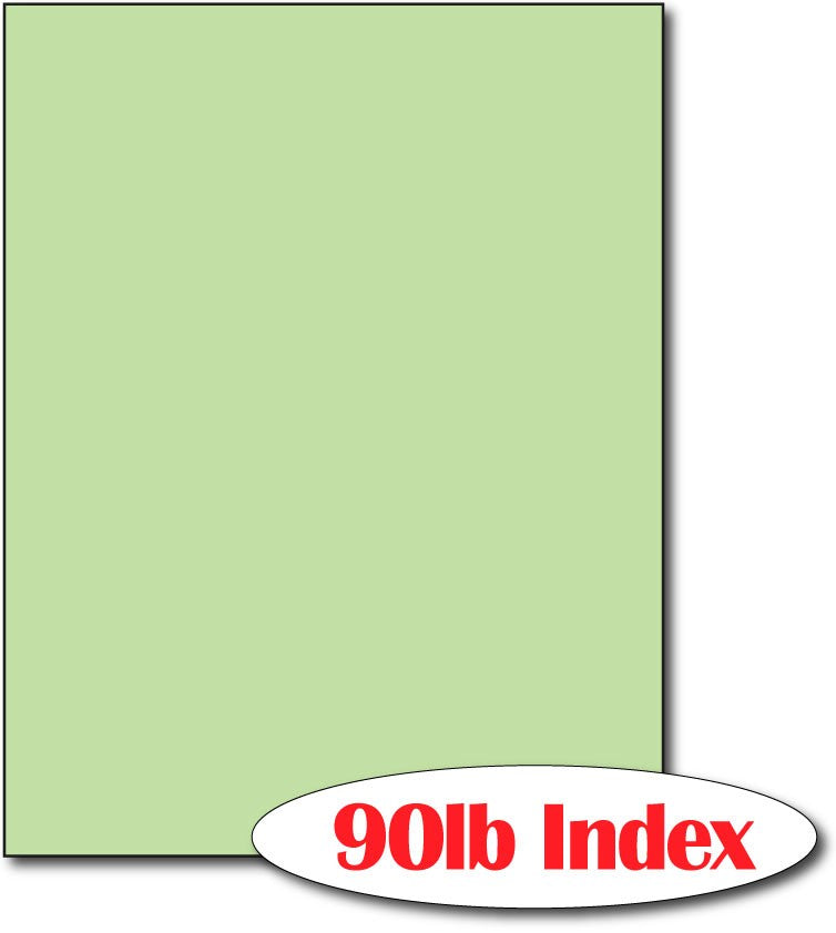 "60 lb Index Green  CardStock , size A6, measure (8 1/2"" x 11"") , compatible with copier, inkjet and laser , Matte Both sides"