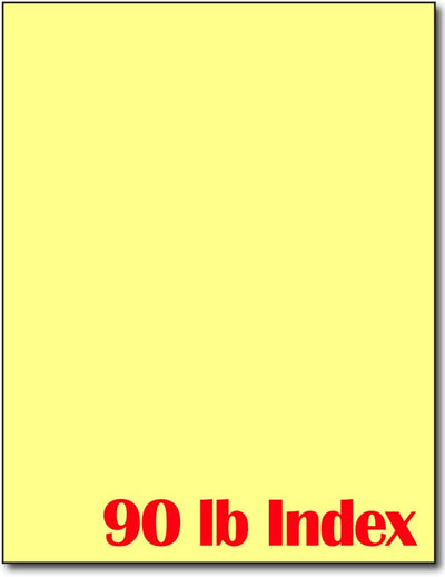 "90 lb Index Yellow  CardStock , size A6, measure (8 1/2"" x 11"") , compatible with copier, inkjet and laser , Matte Both sides"