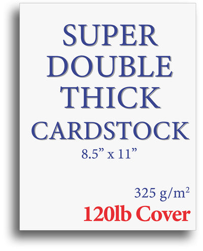 Thick White Cardstock - 120lb Cover - (Color: White)