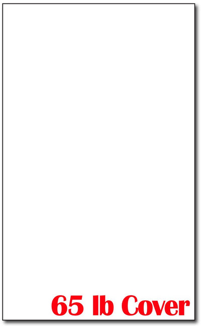 "Cardstock, 8 1/2"" x 14"" 65lb White - 250 Sheets"