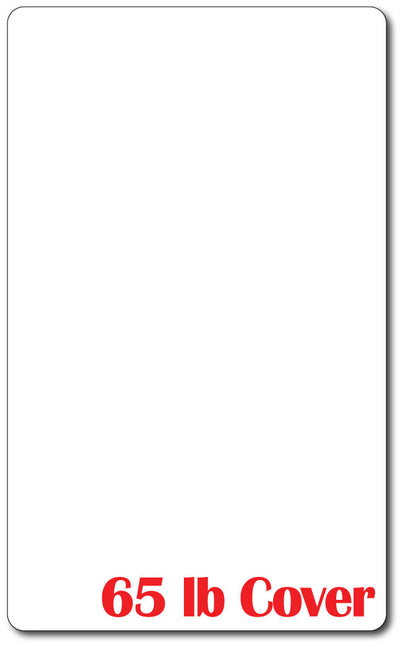 8 1/2 X 14 Cardstock - Rounded Corners - 65lb Cover / White