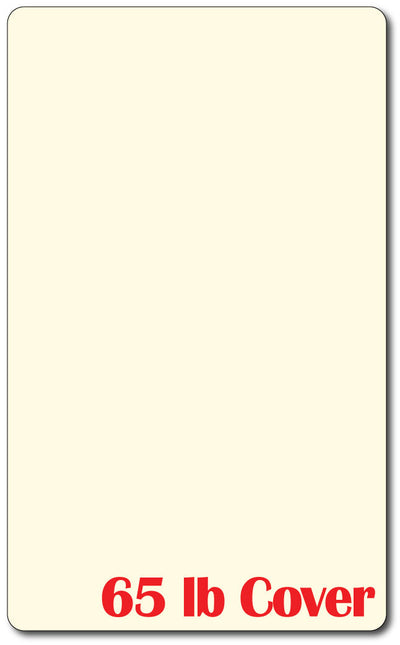 "8 1/2"" X 14"" Cardstock - Rounded Corners - 65lb Cover / Cream"