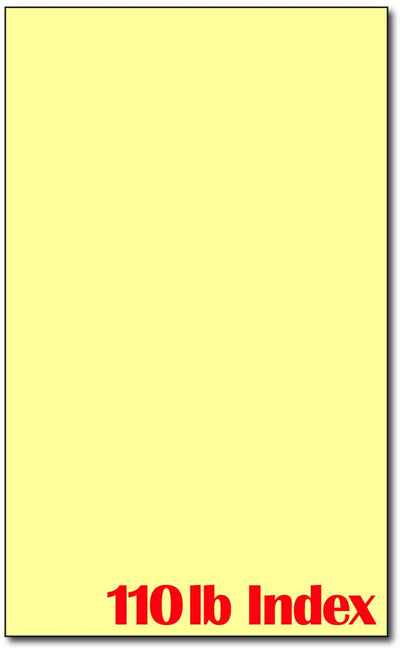 "Cardstock, 8.5"" x 14"" 110lb Index Yellow"