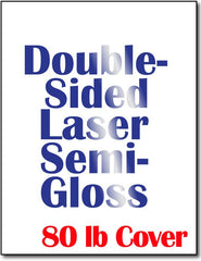 Cardstock, 80lb Double-Sided Laser Semi-Gloss - 250 Sheets