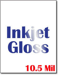 "10.5 mil Inkjet Gloss cardstock , size A6, measure(8 1/2"" x 11""), compatible with inkjet, full gloss"