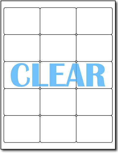 "Adhesive Labels Crystal Clear Inkjet CardStock , size A6, measure (2"" x 2 11/16"") , compatible with Inkjet Only , Full Gloss"