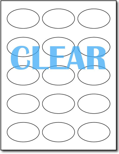 "Adhesive Labels Crystal Clear Laser CardStock , size A6, measure (1 7/16"" x 2 3/8"") , compatible with Laser Only , Full Gloss"