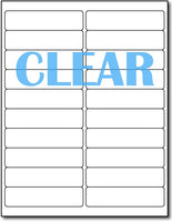 "Adhesive Clear Labels CardStock , size A6, measure (1"" x 4"") , compatible with Laser Only , Full Gloss"