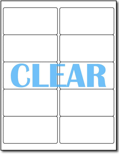 "Adhesive Labels Crystal Clear CardStock , size A6, measure (4"" x 2"") , compatible with Laser Only , Full Gloss"