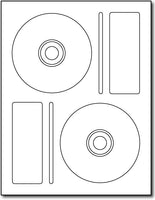 "Adhesive 2up Memorex-Style CD Labels, measure (4.5"" Round) , compatible  with inkjet and laser, matte both sides"