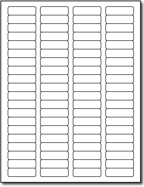 "Removable Labels - 1 3/4"" x 1/2"" - (Color: White)"