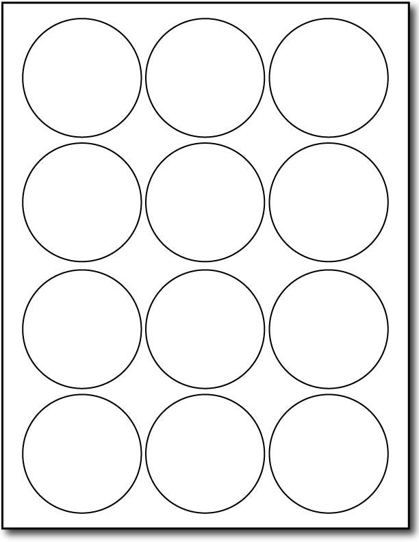 photograph about Printable Circle Labels called 12up 2 1/2